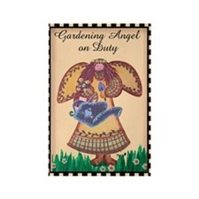 Gardening Angel Rectangle Magnet (10 pack)