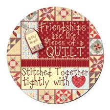 Friendships Are Like Quilts Magnet
