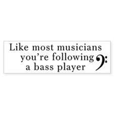 Bass Player Bumper Stickers