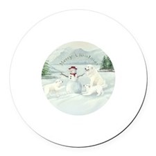 Great Pyrenees Snow Fun Magnet