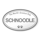 World's Greatest Schnoodle Oval Bumper Stickers