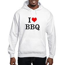 I Love BBQ Hooded Sweatshirt
