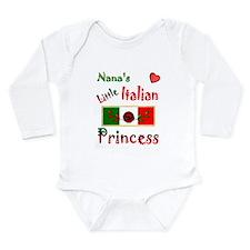 Cute Italian nana Long Sleeve Infant Bodysuit
