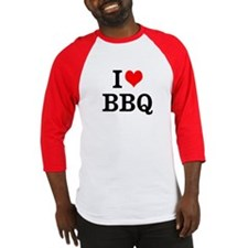 I Love BBQ Baseball Jersey