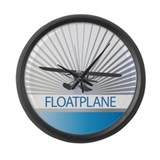 Aircraft Float Plane Large Wall Clock