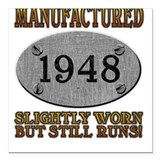 Manufactured 1948 Square Car Magnet