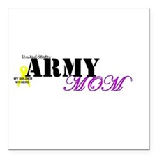 Army Mom Square Car Magnet