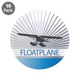 Aircraft Float Plane 3.5&quot; Button (10 pack)