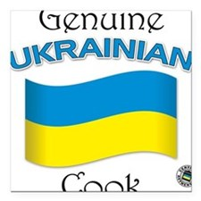 Genuine Ukrainian Cook Square Car Magnet