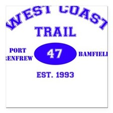West Coast Trail Square Car Magnet