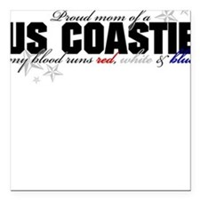 Red, white & blue CG Mom Square Car Magnet