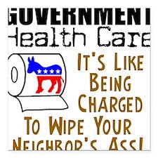 Government Health Care Square Car Magnet