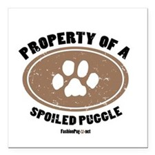 Puggle dog Square Car Magnet