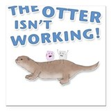 Otter Square Car Magnet