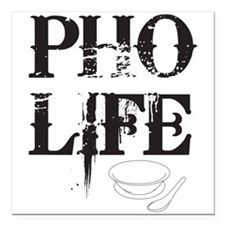Pho Life Square Car Magnet