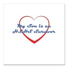HLHS Survivor Square Car Magnet