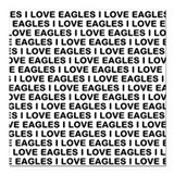 I Love Eagles Square Car Magnet