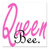 Queen Bee Square Car Magnet