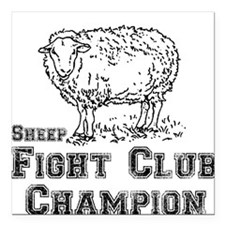 Fight Club Champ Square Car Magnet