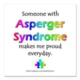 """Asperger Syndrome Pride"" Square Car Magnet"