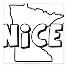 State of NICE Square Car Magnet