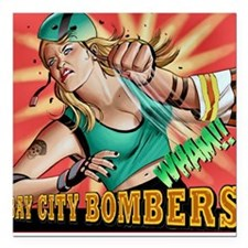 Bombers Square Car Magnet