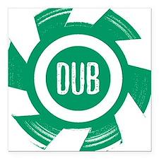 Dub Green - Square Car Magnet