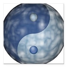 Square Car Magnet with Yin Yang