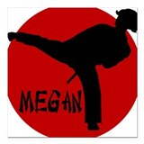 Megan Karate Square Car Magnet