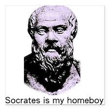 Socrates Square Car Magnet