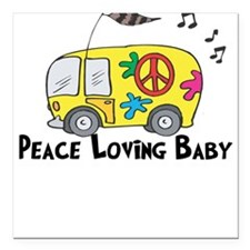 Peace Loving Baby Funny Baby/Toddlers Square Car M