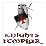templar Square Car Magnet