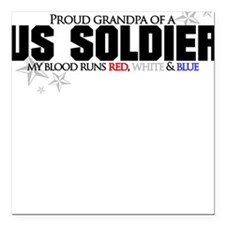 Red, white & blue Army Grandp Square Car Magnet
