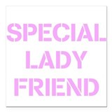 Special Lady Friend Square Car Magnet