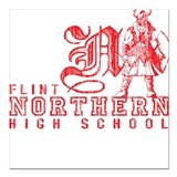 Flint Northern High School Square Car Magnet
