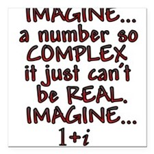 Imagine Complex Square Car Magnet