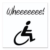 Wheelchair Square Car Magnet