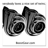 Everybody loves twins - Square Car Magnet