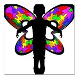 Autistic Butterfly Square Car Magnet