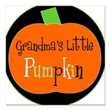 Grandma's Little Pumpkin Square Car Magnet
