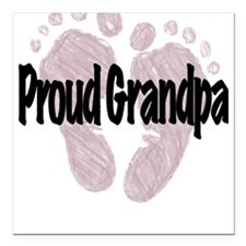 Proud Grandpa (Girl) Square Car Magnet