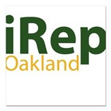 iRep Oakland - Green/Yellow on White Shirt