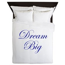Dream Big Cursive Queen Duvet
