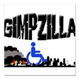 Gimpzilla Square Car Magnet