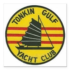 Tonkin Gulf Yacht Club Square Car Magnet