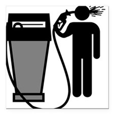 Gas Pump Suicide Square Car Magnet