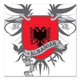Albanian Wings Square Car Magnet