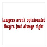 Lawyer Square Car Magnet