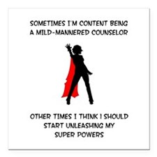 Counseling Superheroine Square Car Magnet