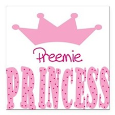Preemie Princess Baby Square Car Magnet